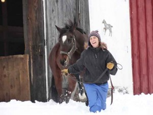 Winter fun with Little Filly